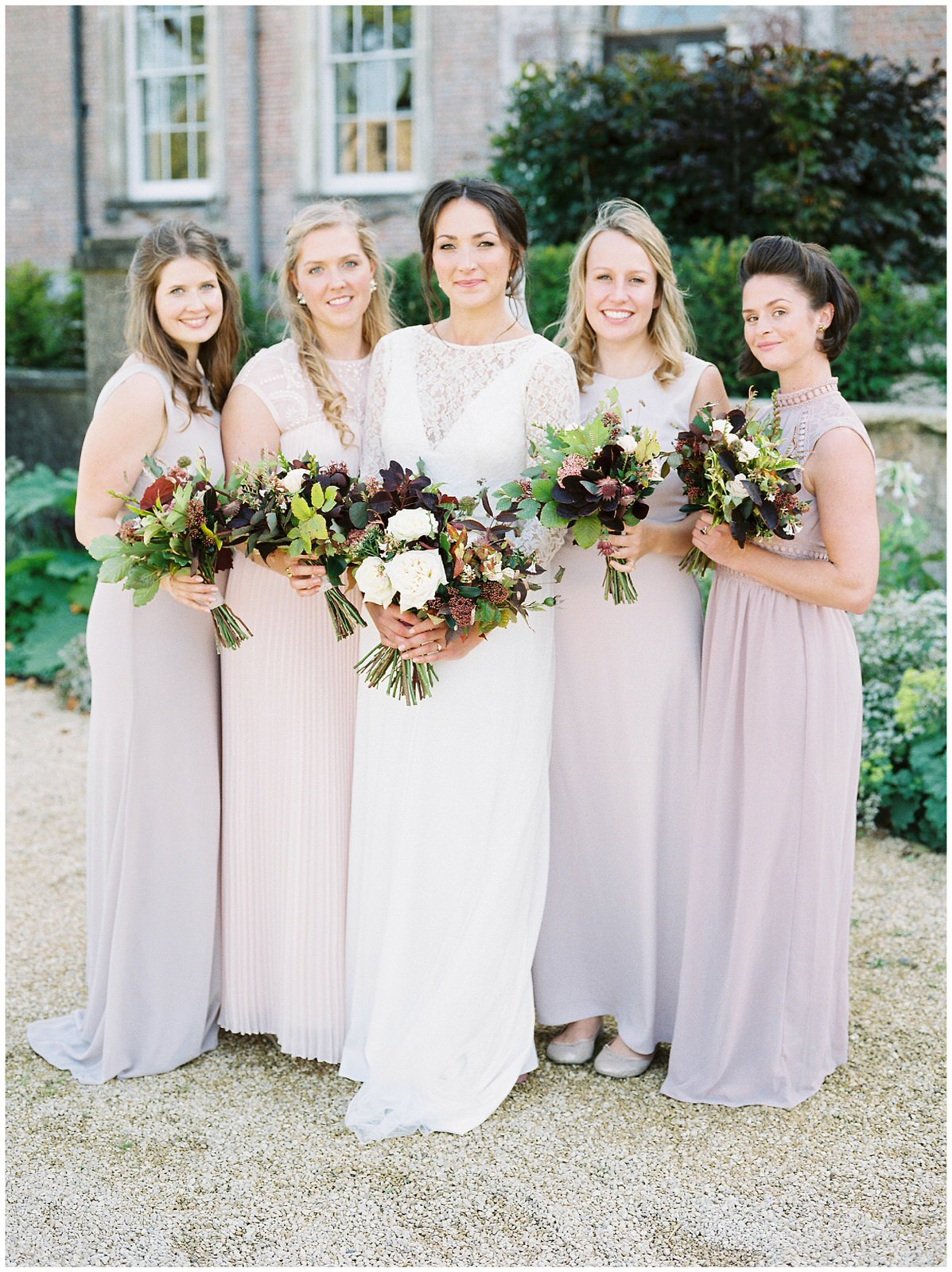 autumn bridesmaids inspiration at dorset wedding venue