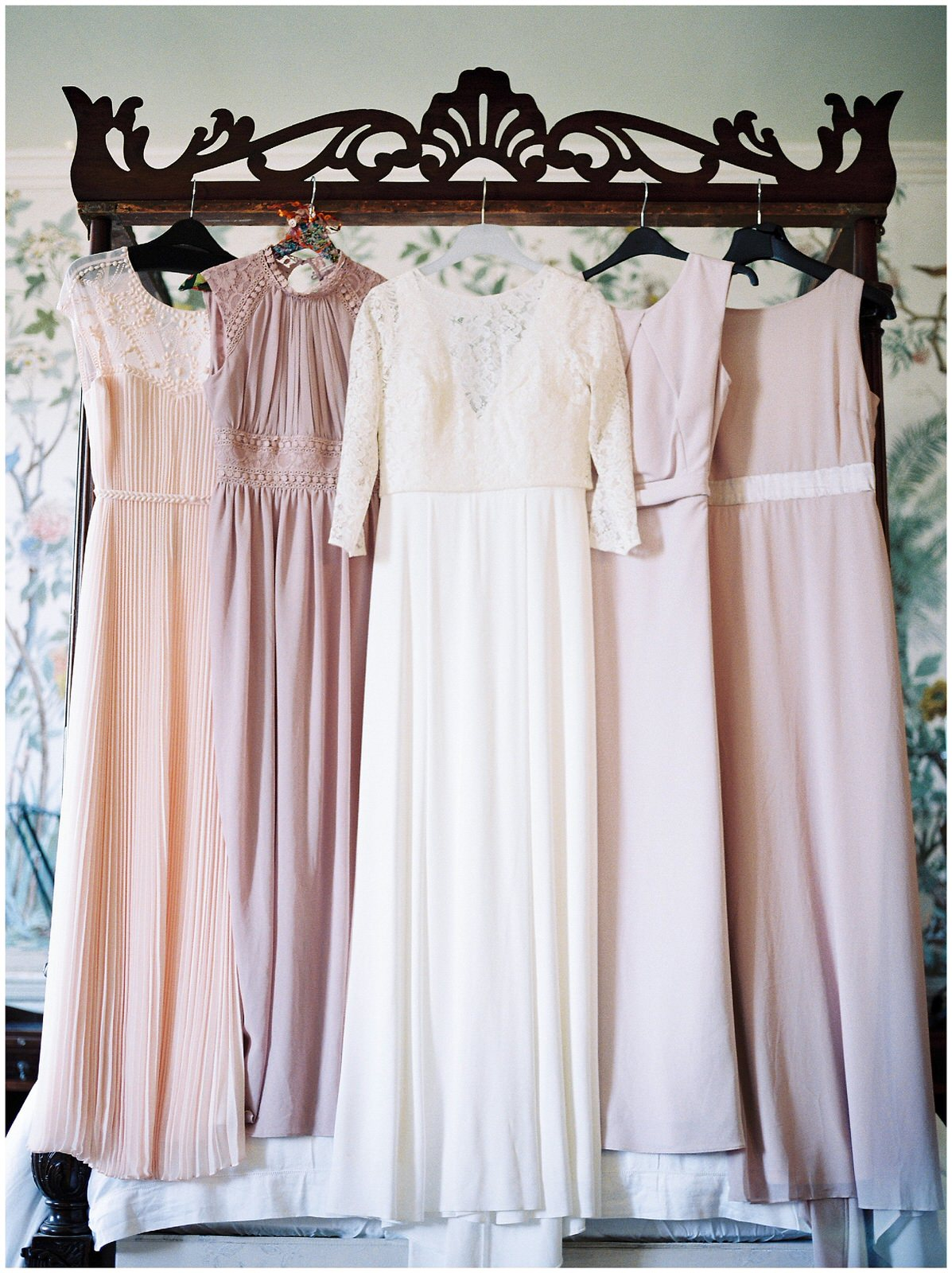 BLUSH AND LILAC BRIDEMAID DRESSES