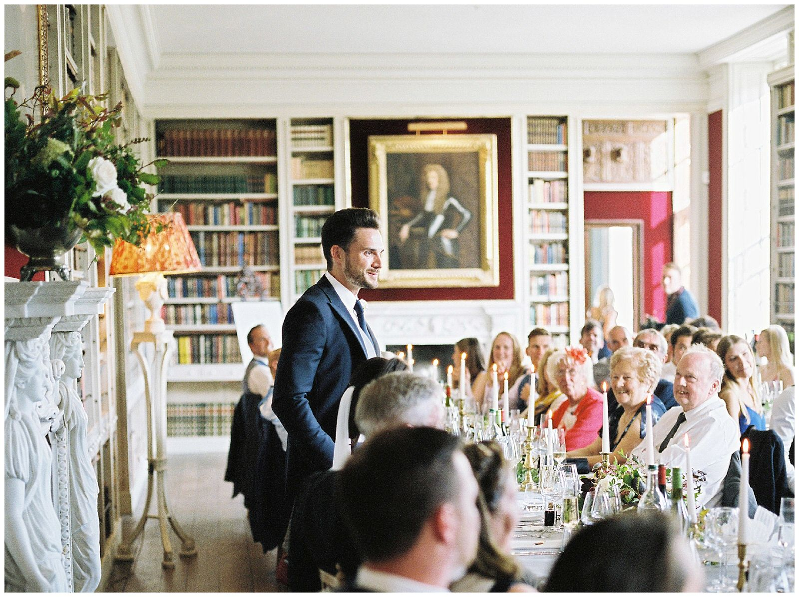 grooms speech in st giles house library