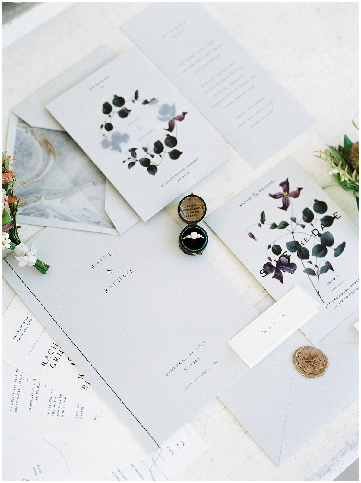 GOLD AND GREY WEDDING STATIONARY