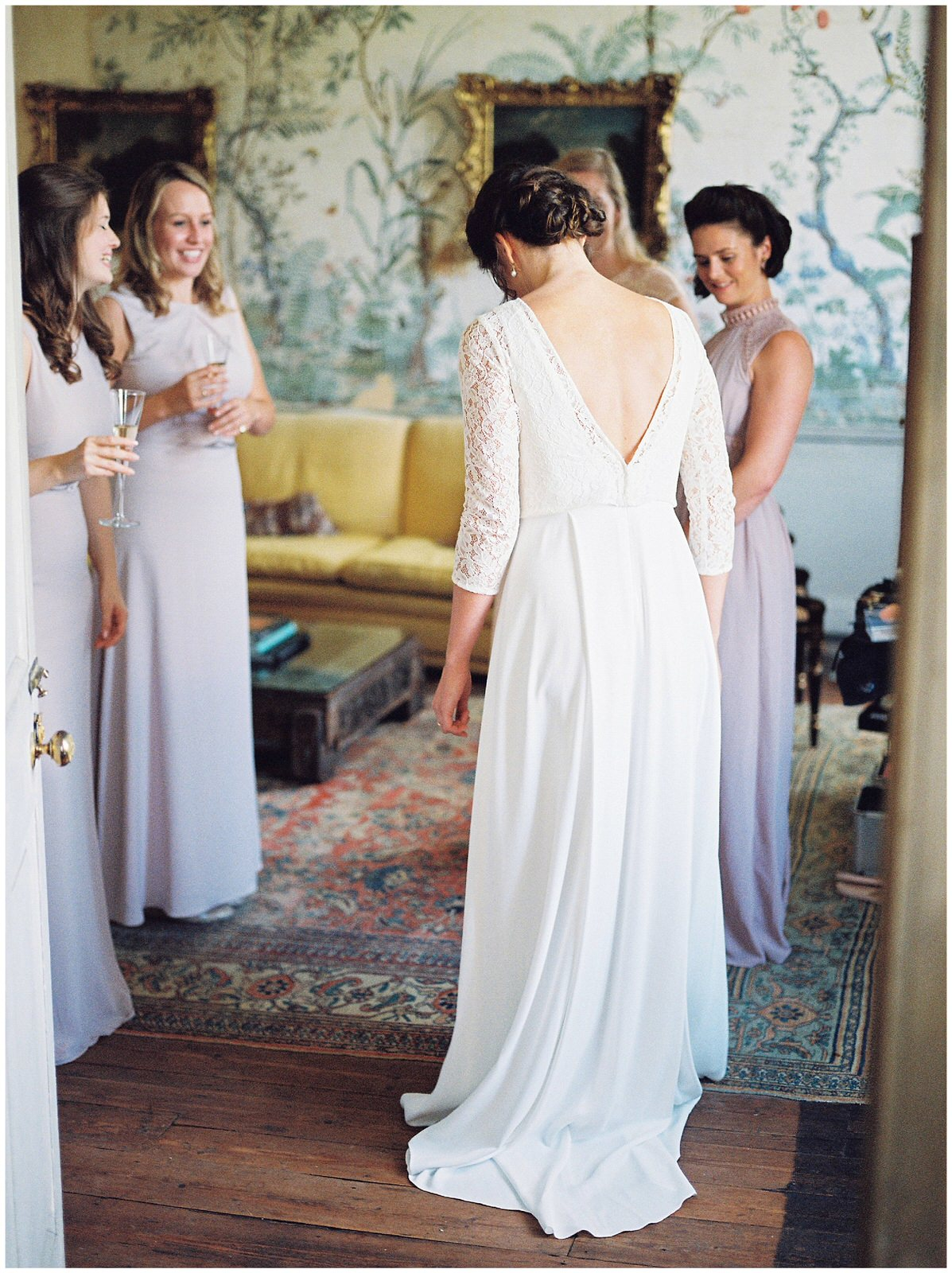 WEDDING DRESS REVEAL AT ST GILES HOUSE