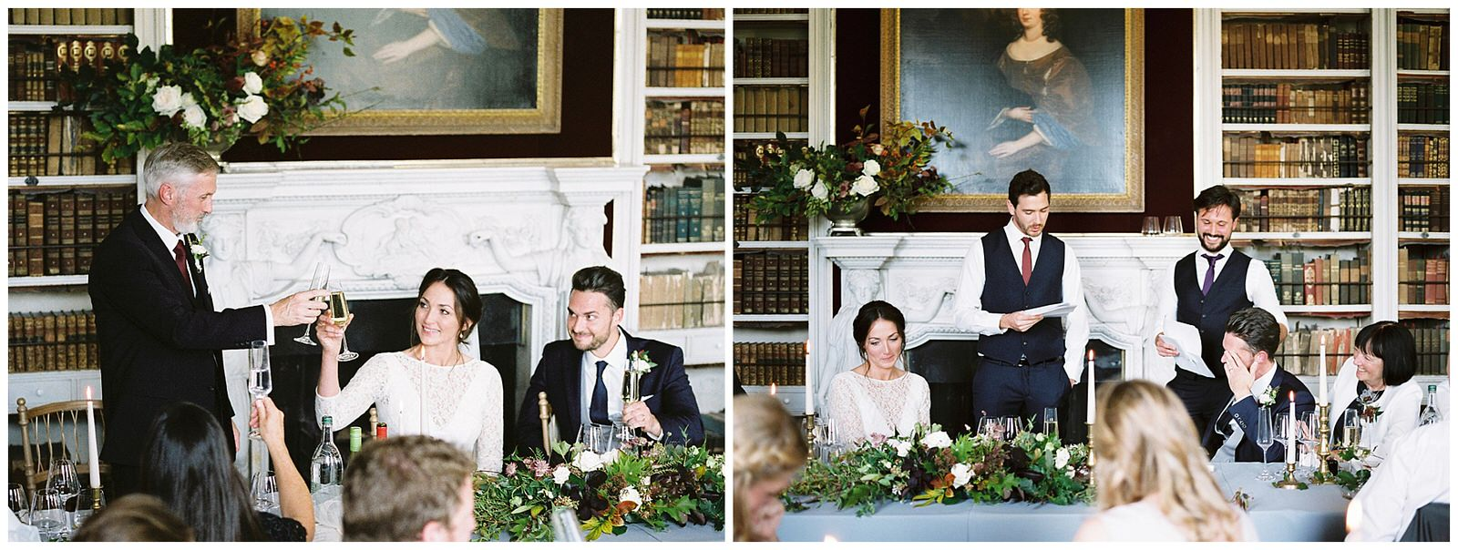 wedding speeches in st giles house library room