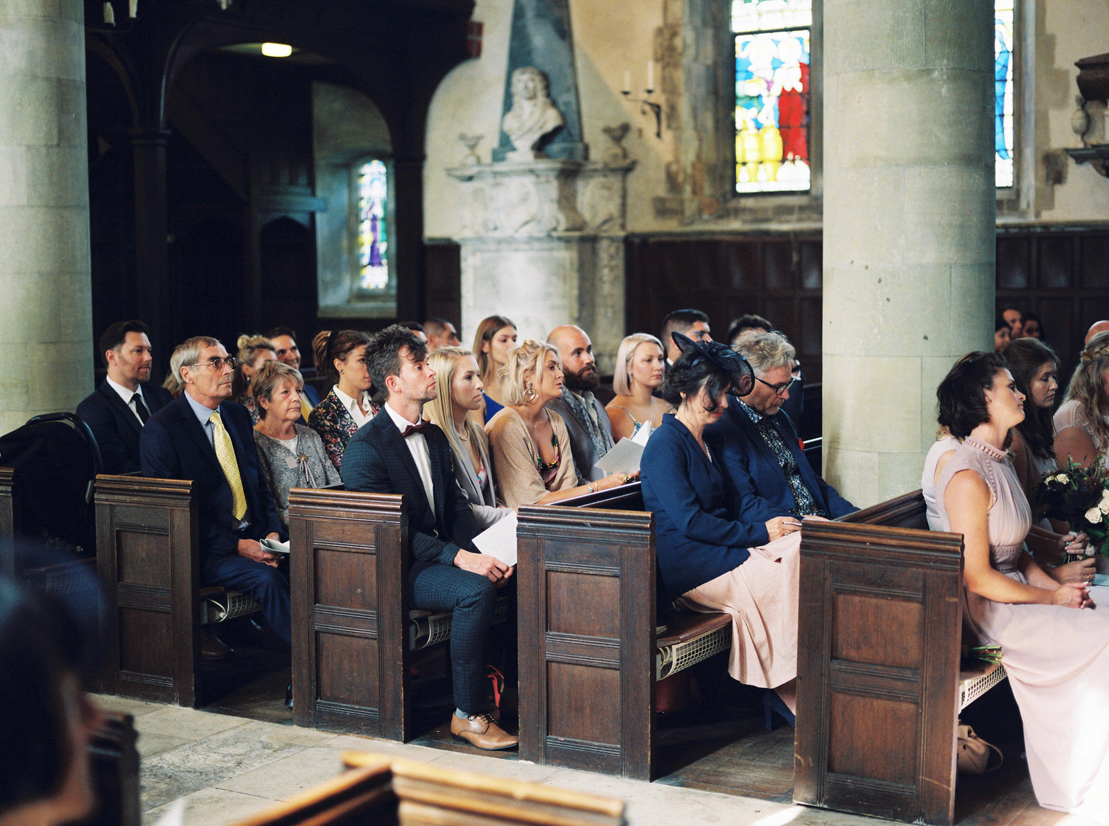 guests waiting for bride to enter church