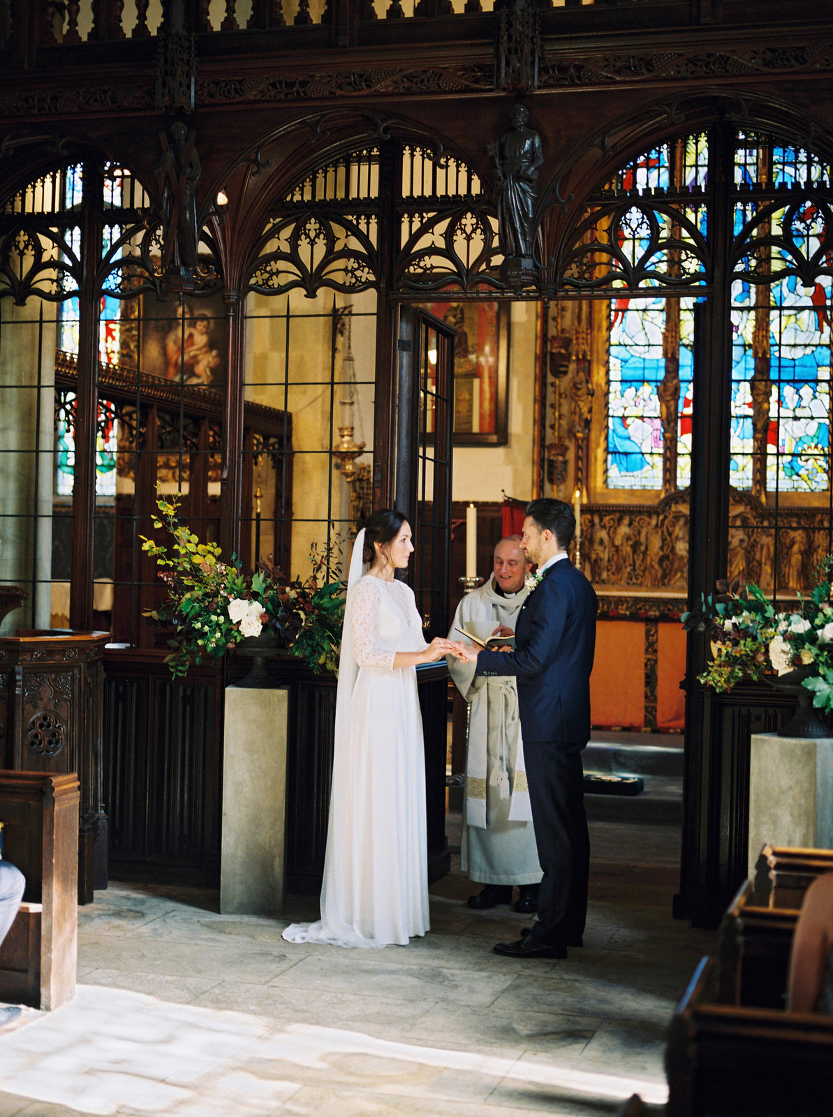 st giles church, bride and groom vows