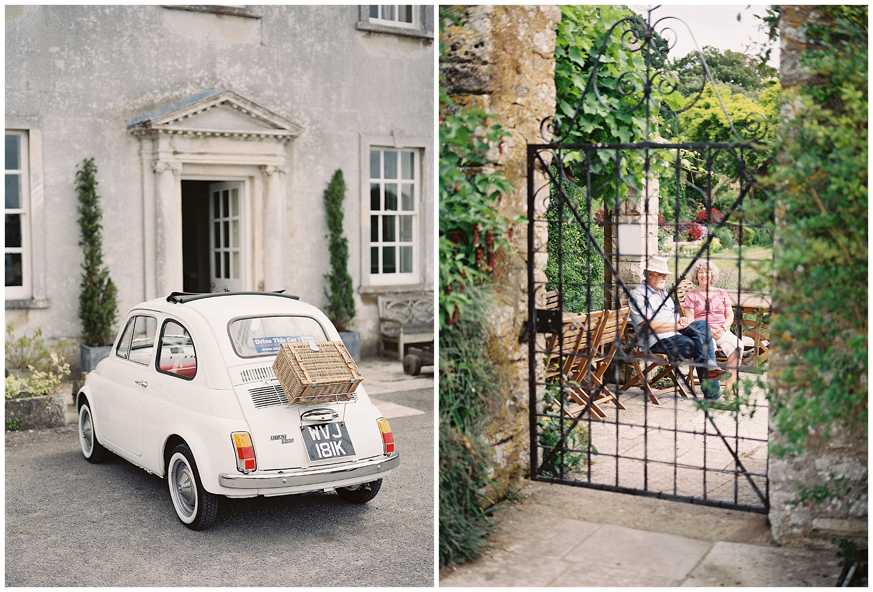 fiat 500 vintage wedding car