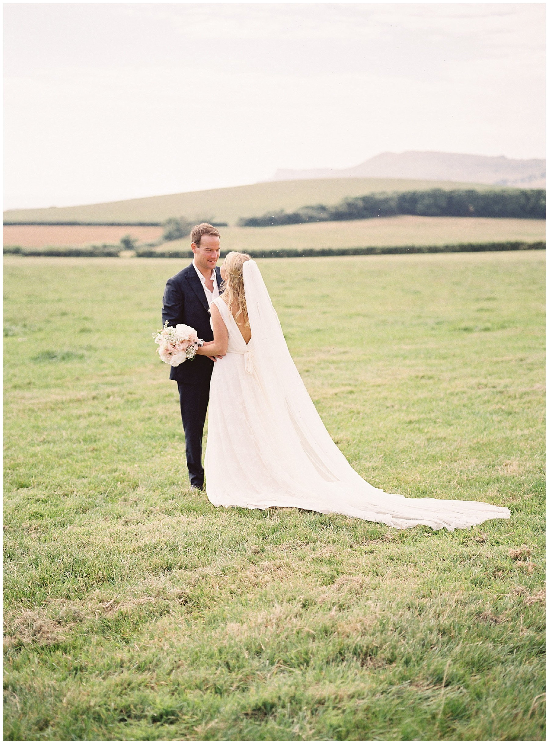 kimmeridge bay wedding portraits