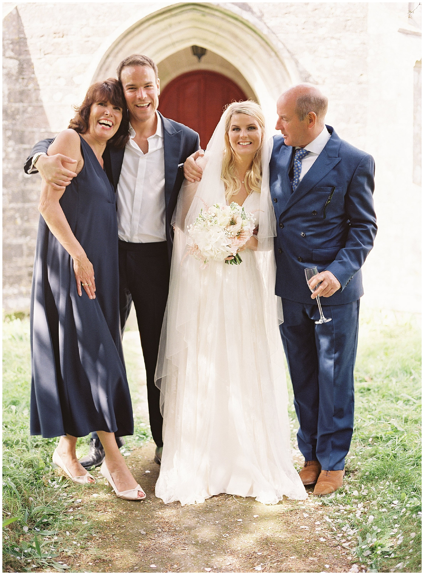 relaxed family wedding formals