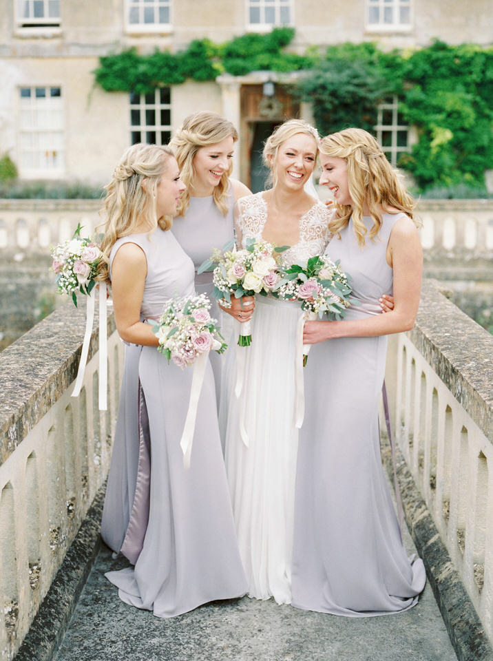 dauntsey house park wedding lilac bridesmaids dresses